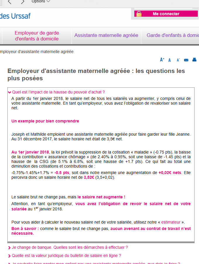 salaire brut assistant maternel 2018